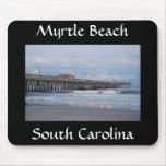 Myrtle Beach Carolina del Sur en la puesta del sol Tapete De Raton