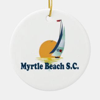 Myrtle Beach. Ceramic Ornament