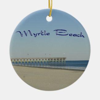 Myrtle Beach Ceramic Ornament
