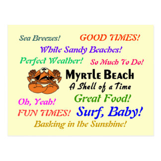 Myrtle Beach Crab Post Cards