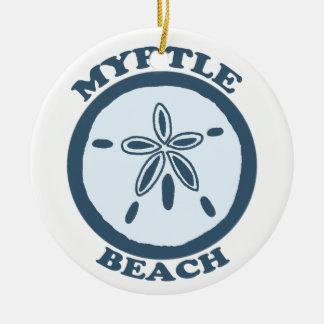 Myrtle Beach. Adorno Redondo De Cerámica