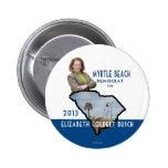 Myrtle Beach Democrat for Elizabeth Colbert Busch Pinback Buttons
