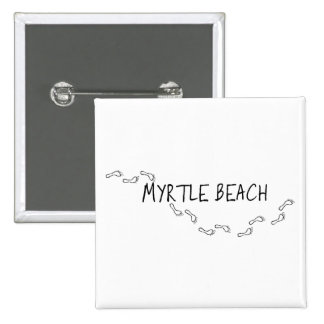 Myrtle Beach Footprints 2 Inch Square Button