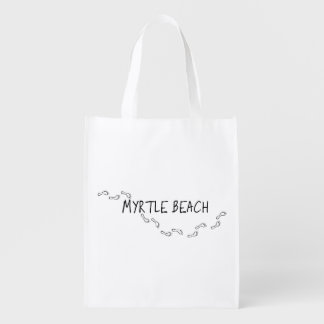 Myrtle Beach Footprints Grocery Bag