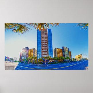 myrtle beach hotels poster
