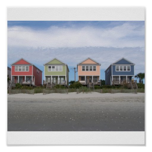Myrtle Beach Houses Poster