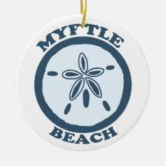 Myrtle Beach. Double-Sided Ceramic Round Christmas Ornament