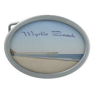 Myrtle Beach Oval Belt Buckle