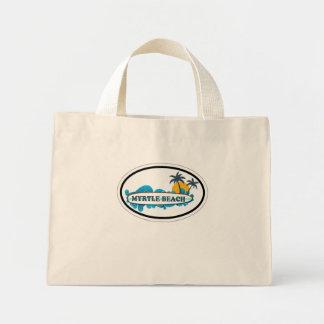 Myrtle Beach Oval Design Canvas Bags