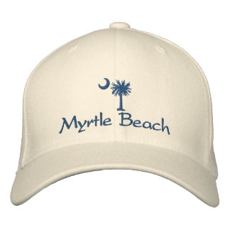 Myrtle Beach Palmetto Embroidered Hat