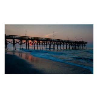 myrtle beach pier 14 poster