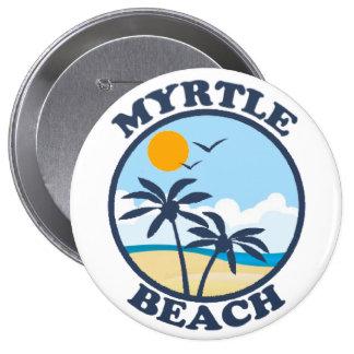 Myrtle Beach. Pin Redondo De 4 Pulgadas