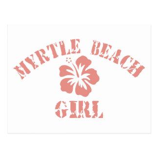 Myrtle Beach Pink Girl Postcard