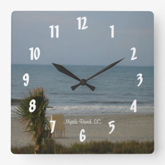 Myrtle Beach, SC. #1 Square Wall Clock