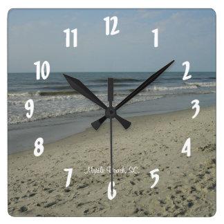 Myrtle Beach, SC. #3 Square Wall Clock