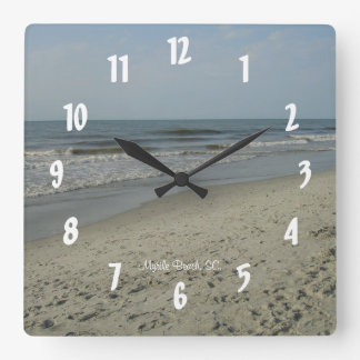 Myrtle Beach, SC. #3 Square Wall Clock