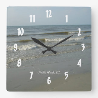 Myrtle Beach, SC. #8 Square Wall Clock