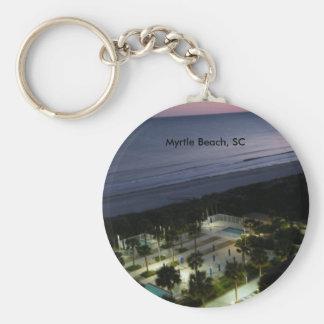 Myrtle Beach, SC Basic Round Button Keychain
