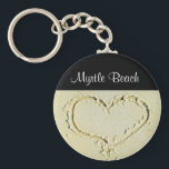 "Myrtle Beach SC  Heart on a Sandy Beach Key Chain<br><div class=""desc"">Myrtle Beach South Carolina Heart on a  Sandy Beach Budget Key Chain</div>"