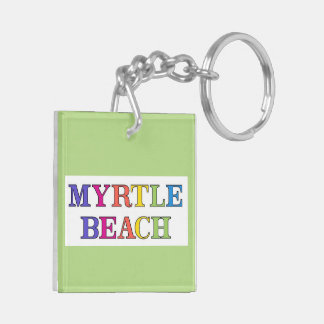 Myrtle Beach SC Double-Sided Square Acrylic Keychain