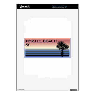 Myrtle Beach SC Palm Tree iPad 2 Skins