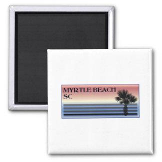 Myrtle Beach SC Palm Tree Refrigerator Magnet