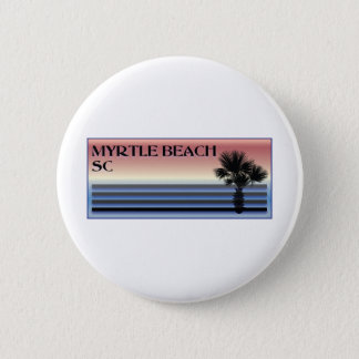 Myrtle Beach SC Palm Tree Pinback Button