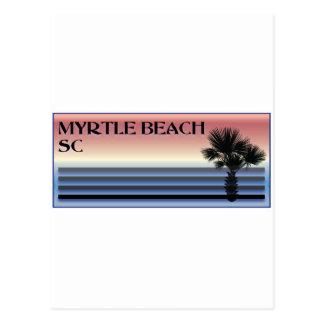 Myrtle Beach SC Palm Tree Postcard