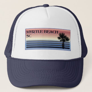 Myrtle Beach SC Palm Tree Trucker Hat