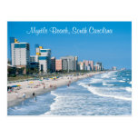 myrtle beach, south carolina, beach, ocean, card,