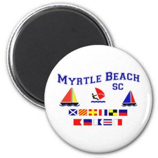 Myrtle Beach SC Signal Flags 2 Inch Round Magnet