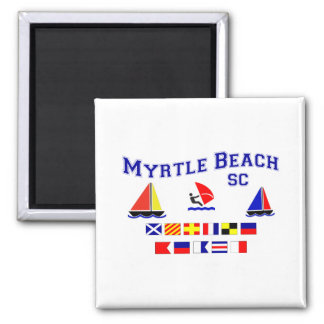 Myrtle Beach SC Signal Flags 2 Inch Square Magnet