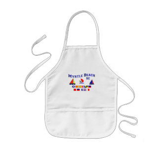 Myrtle Beach SC Signal Flags Kids' Apron