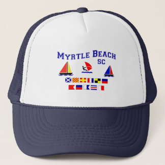 Myrtle Beach SC Signal Flags Trucker Hat