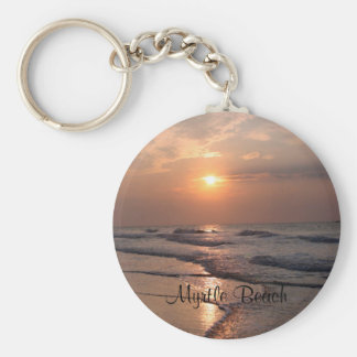 Myrtle Beach SC Sunrise Over Ocean Key Chain