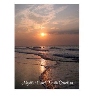 Myrtle Beach SC Sunrise Over Ocean Post Card