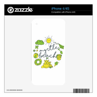 Myrtle Beach Script Decal For iPhone 4S