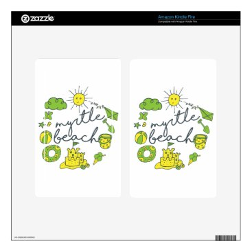 Beach Themed Myrtle Beach Script Decals For Kindle Fire