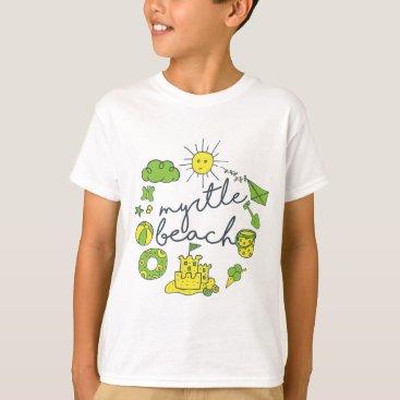 Beach Themed Myrtle Beach Script T-Shirt