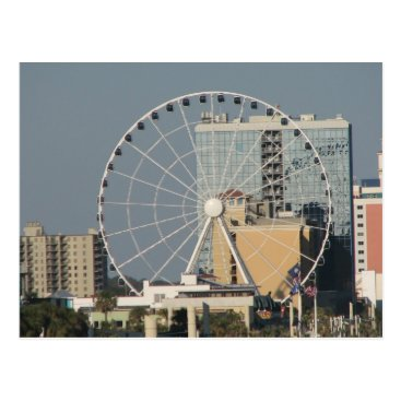 Beach Themed Myrtle Beach Sky Wheel Postcard