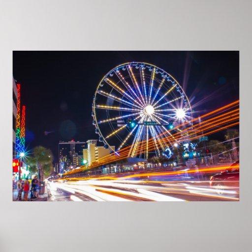 myrtle beach sky wheel posters