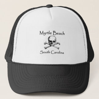 Myrtle Beach South Carolina Jolly Roger Trucker Hat