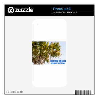 Myrtle Beach South Carolina Palm Tree Vacation Decal For iPhone 4S