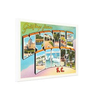 Myrtle Beach South Carolina SC Vintage Postcard- Canvas Print