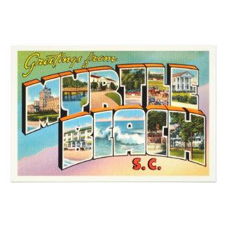 Myrtle Beach South Carolina SC Vintage Postcard- Photo Print