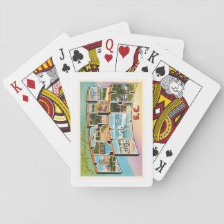 Myrtle Beach South Carolina SC Vintage Postcard- Poker Deck
