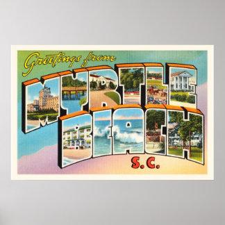 Myrtle Beach South Carolina SC Vintage Postcard- Poster