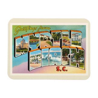 Myrtle Beach South Carolina SC Vintage Postcard- Rectangular Photo Magnet