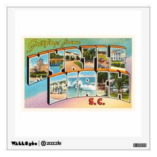 Myrtle Beach South Carolina SC Vintage Postcard- Wall Decal