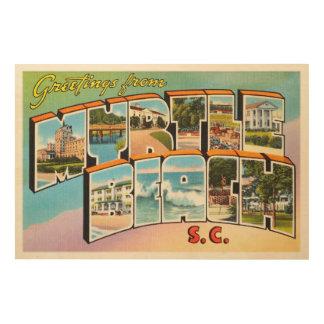 Myrtle Beach South Carolina SC Vintage Postcard- Wood Wall Decor